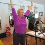 Lynette Mitchell Leading Laughter Yoga