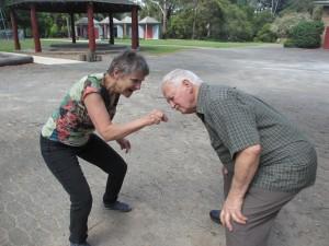 John Mitchell & Vicki at Ferntree Gully Laughter Club